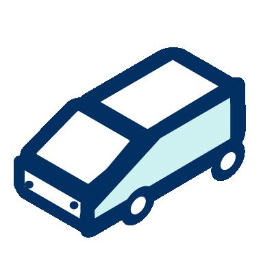 Un icono de una furgoneta