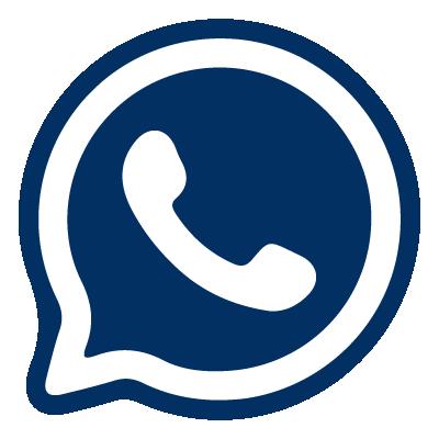Icono de la red social whatsapp, un telefono dentro de un bocadillo de comic
